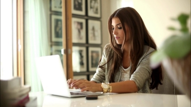 Woman Working In The Office | Flurt in Woman Working In Home Office